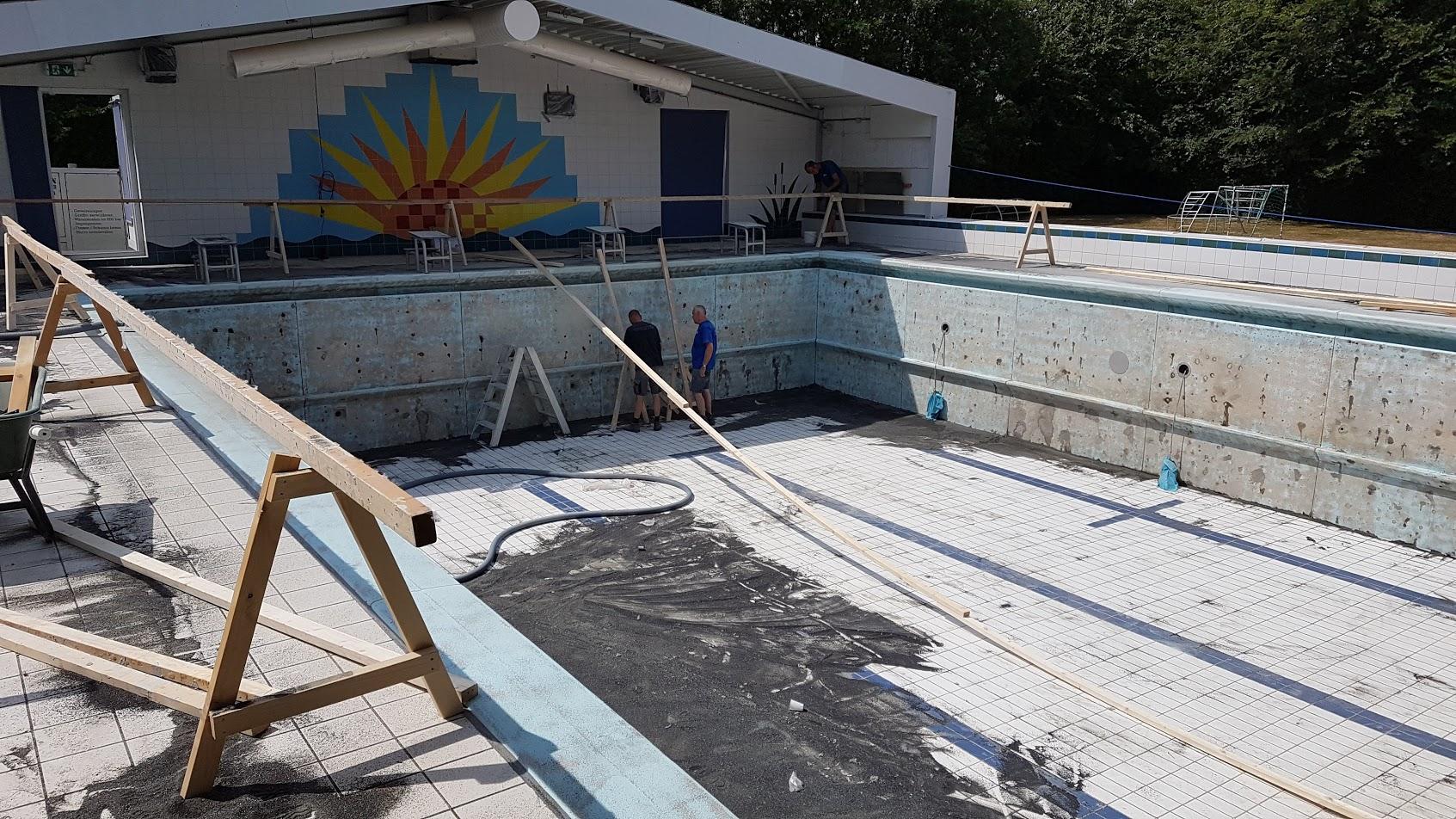 Renovatie zwembad de kragge zwartsluis koers for Renovatie zwembad